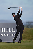 5th October 2017, The Old Course, St Andrews, Scotland; Alfred Dunhill Links Championship, first round; Richard Bland of England tees off on the fifteenth hole on the Old Course, St Andrews during the first round at the Alfred Dunhill Links Championship