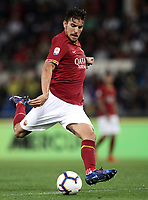 Football, Serie A: AS Roma - Parma, Olympic stadium, Rome, May 26, 2019. <br /> Roma' Lorenzo Pellegrini in action during the Italian Serie A football match between Roma and Parma at Olympic stadium in Rome, on May 26, 2019.<br /> UPDATE IMAGES PRESS/Isabella Bonotto