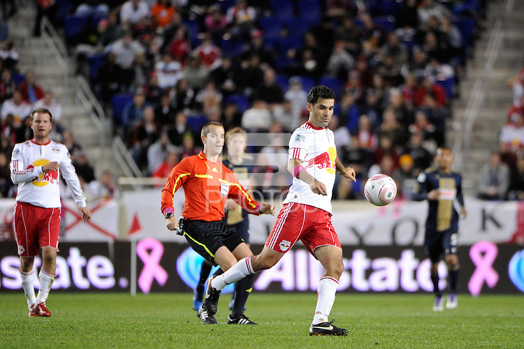 Rafa Marquez (4) of the New York Red Bulls. The New York Red Bulls defeated the Philadelphia Union  1-0 during a Major League Soccer (MLS) match at Red Bull Arena in Harrison, NJ, on October 20, 2011.