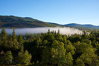 Morning Mist drifts across Mount Washington Valley