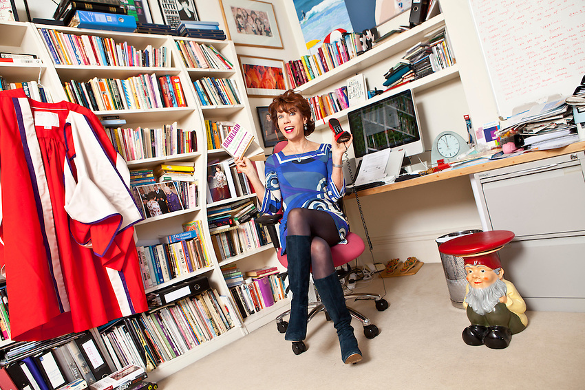 Kathy Lette, in her office at her home. She is a widely published Australian author with several books to her name