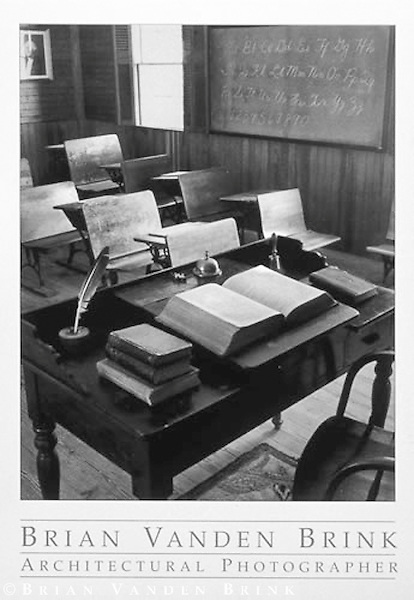 ONE ROOM SCHOOL HOUSE<br /> ca. 1857<br /> Waldoboro, Maine &copy; Brian Vanden Brink, 1994