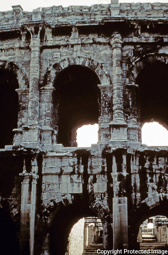 Facade of the Colosseum, Rome, Italy, 80 AD