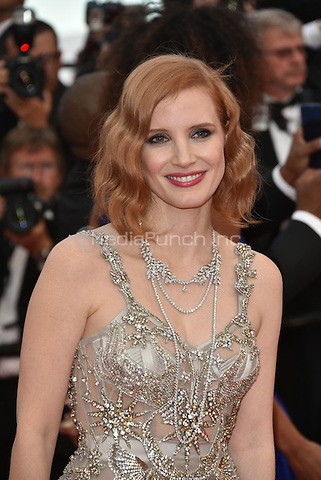 CANNES, FRANCE - MAY 12: Jessica Chastain at&laquo;Money Monster` screening - 69th Cannes Film Festival, France May 12, 2016.<br /> CAP/PL<br /> &copy;Phil Loftus/Capital Pictures<br /> CANNES, FRANCE - MAY 12: Jessica Chastain at&acute;Money Monster` screening - 69th Cannes Film Festival, France May 12, 2016.<br /> CAP/PL<br /> &copy;Phil Loftus/Capital Pictures /MediaPunch ***NORTH AND SOUTH AMERICA ONLY***