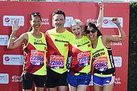 Jaye Griffiths<br /> at the start of the 2018 London Marathon, Greenwich, London<br /> <br /> ©Ash Knotek  D3397  22/04/2018