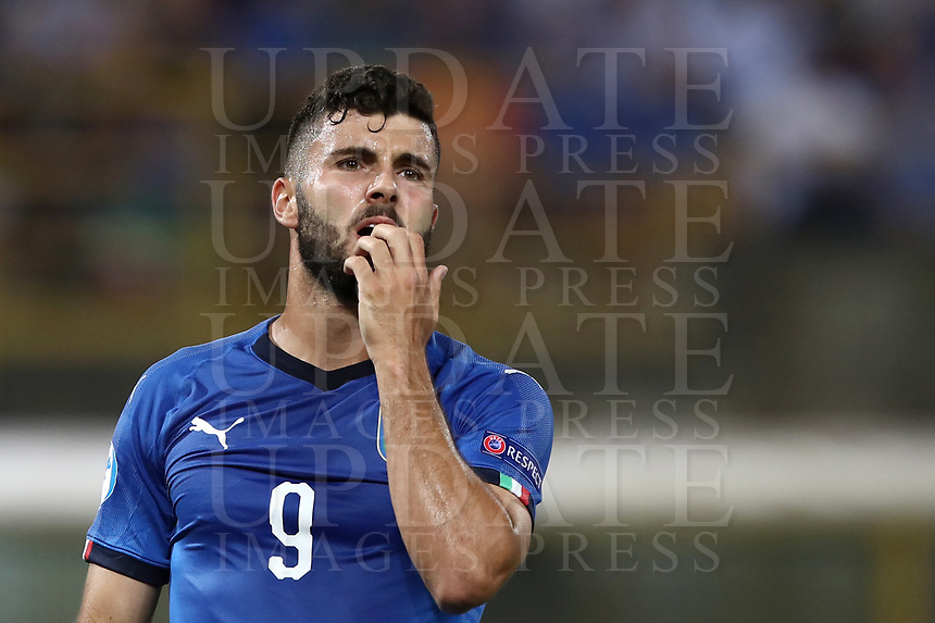 Football: Uefa under 21 Championship 2019, Italy -Poland, Renato Dall'Ara stadium Bologna Italy on June19, 2019.<br /> Italy's Patrick Cutrone reacts during the Uefa under 21 Championship 2019 football match between Italy and Poland at Renato Dall'Ara stadium in Bologna, Italy on June19, 2019.<br /> UPDATE IMAGES PRESS/Isabella Bonotto
