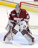 Dan Meyers (UMass - 33) - The Boston College Eagles defeated the University of Massachusetts-Amherst Minutemen 5-2 on Saturday, March 13, 2010, at Conte Forum in Chestnut Hill, Massachusetts, to sweep their Hockey East Quarterfinals matchup.