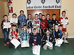 Players from The Ardee Celtic Academy (Ages 5 & 6) with their certificates at the Ardee Celtic annual awards night in Ardee parish centre. Photo:Colin Bell/pressphotos.ie