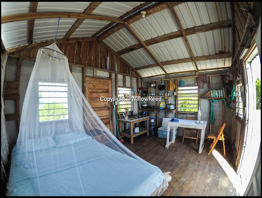BNPS.co.uk (01202 558833)<br /> Pic: WillowReed/BNPS<br /> <br /> The interior of the cabin on the island.<br /> <br /> Unleash your inner Robinson Crusoe with an idyllic Caribbean island off the coast of Belize up for grabs.<br /> <br /> Brit Willow Reed, 40, is selling the stunning island of Virginia Caye, a nature haven of just under four acres, through eBay.<br /> <br /> The starting bid is £400,000 or, if they don't want the risk of losing out to a higher bidder, someone could pay the 'buy it now' price of £750,000.<br /> <br /> For that the lucky buyer will get their own private piece of paradise where they can escape the British weather or they could invest more money to turn the island into a popular tourist retreat.