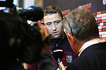 Gary Cahill of England during a press conference - England Training & Press Conference - UEFA Euro 2016 Qualifying - St George's Park - Burton-upon-Trent - 11/11/2014 Pic Philip Oldham/Sportimage<br /> *Embargoed until Tuesday 11/11/14 10.30pm*