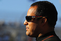 Apr 17, 2009; Avondale, AZ, USA; NASCAR Sprint Cup Series driver Juan Pablo Montoya during qualifying for the Subway Fresh Fit 500 at Phoenix International Raceway. Mandatory Credit: Mark J. Rebilas-