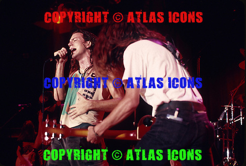 PEARL JAM:  Eddie Vedder; Live, In New York City, On November 11- 15 , 1991.Photo Credit: Eddie Malluk/Atlas Icons.com