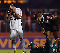 SAO PAULO SP, 05 Junho 2013 -  SAO PAULO X GOIAS -   Luis Fabiano   durante partida válida pela quarta rodada do campeonato brasileiro de 2013 no Estádio do Morumbi em São Paulo, nesta quarta , 06. (FOTO: ALAN MORICI / BRAZIL PHOTO PRESS).