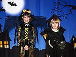 Ainé and Oisín O'Brien enjoying the Halloween fun in Scotch Hall. Photo:Colin Bell/pressphotos.ie