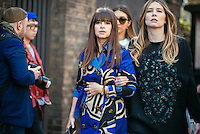Miroslava Duma at London Fashion Week (Photo by Hunter Abrams/Guest of a Guest)