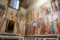 La Cappella Brancacci, con gli affreschi di Masaccio e Masolino, nella chiesa di Santa Maria del Carmine a Firenze.<br /> Frescoes by Masaccio and Masolino in the Brancacci Chapel, church of Santa Maria del Carmine, in Florence.<br /> UPDATE IMAGES PRESS/Riccardo De Luca