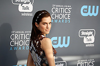 Allison Williams attends the 23rd Annual Critics' Choice Awards at Barker Hangar in Santa Monica, Los Angeles, USA, on 11 January 2018. Photo: Hubert Boesl - NO WIRE SERVICE - Photo: Hubert Boesl/dpa/dpa-mag /MediaPunch ***FOR USA ONLY***
