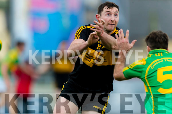 Daithí Casey Dr Crokes in action against Paul O'Sullivan South Kerry in the Senior County Football Final in Austin Stack Park on Sunday