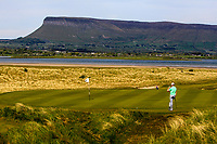 Action on the 11th green during the Flogas Am-Am at the Co. Sligo Golf Club, Rosses Point, Sligo, Ireland. 14/05/19<br /> <br /> Picture: Thos Caffrey / Golffile<br /> <br /> All photos usage must carry mandatory copyright credit (© Golffile | Thos Caffrey)