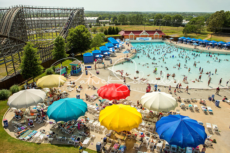 Carowinds, a Cedar Fair Entertainment Company amusement / theme park, is home to Boomerang Bay, a water park that is included in the price of admission to Carowinds. Boomerang Bay includes a 34,000-square-foot wave pool, a 1,000-foot-long lazy river, 11 water slides and interactive activity areas.<br /> <br /> Charlotte Photographer - PatrickSchneiderPhoto.com