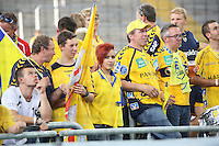 Fans der Rhein-Neckar Löwen beim Weltrekord im Handball - Tag des Handball, Rhein-Neckar Löwen vs. Hamburger SV, Commerzbank Arena