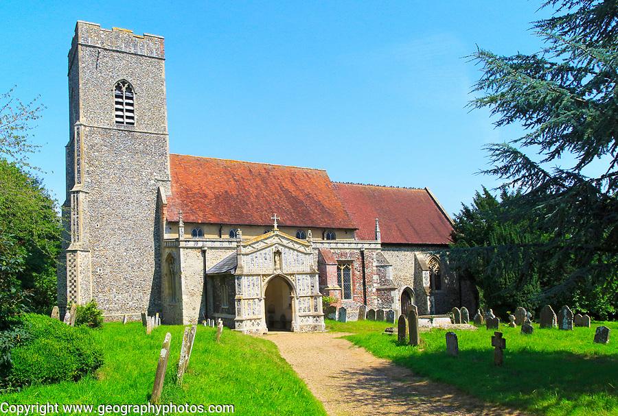Parish church of Saint Mary, Huntingfield,, Suffolk, England, UK