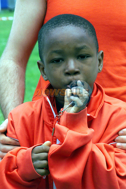 Olu Olumide pictured at the ESB Community Games in Mosney...Picture: Arthur Carron/Newsfile
