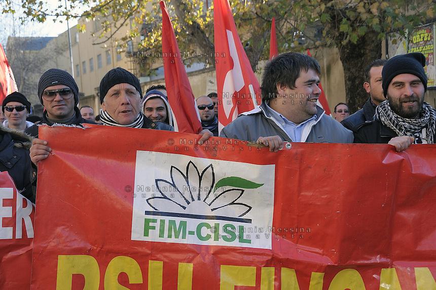 strike and protest of Fincantieri shipyards workers..lotta degli operai della Fincantieri di Palermo contro i licenziamenti  e cassa integrazione previsti.