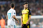 Borussia Dortmund Mahmoud Dahoud (R) reacts during the Europe Champions League 2017-18 match between Real Madrid and Borussia Dortmund at Santiago Bernabeu Stadium on 06 December 2017 in Madrid Spain. Photo by Diego Gonzalez / Power Sport Images