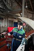 Reiss Fraser, apprentice mechanic at Camden Transport Services.