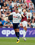 West Ham's Javier Hernandez tussles with Tottenham's Toby Alderweireld during the premier league match at the London Stadium, London. Picture date 23rd September 2017. Picture credit should read: David Klein/Sportimage