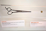 Amelia Earhart Exhibit - Scissors Used To Cut Her Hair Before Her Last Flight, Air & Space Museum - Steven F. Udvar-Hazy Center