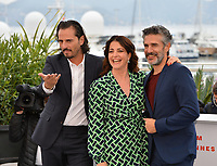 """CANNES, FRANCE. May 18, 2019: Asier Etxeandia, Nora Navas & Leonardo Sbaraglia at the photocall for the """"Pain and Glory"""" at the 72nd Festival de Cannes.<br /> Picture: Paul Smith / Featureflash"""