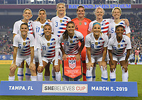 USWNT vs Brazil, March 05, 2019