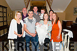 Shaun Kelleher and Jackie Byrnes from Rathmore celebrated christening of their son Adam Kelleher with Katherine Gammell, Aoife Byrnes, Michael Byrnes, Aideen Callahan, John Callahan and Mary Byrnes in The Malton Hotel, Killarney last Sunday.