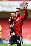 Richard Stearman of Sheffield Utd waves to fans after  the Championship league match at Bramall Lane Stadium, Sheffield. Picture date 28th April, 2018. Picture credit should read: Harry Marshall/Sportimage