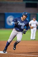 Corpus Christi Hooks designated hitter Granden Goetzman (55) rounds third base following a solo home run Wednesday, May 1, 2019, at Arvest Ballpark in Springdale, Arkansas. (Jason Ivester/Four Seam Images)