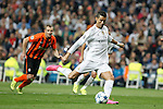 Real Madrid´s Cristiano Ronaldo scores a penalty kick during Champions League soccer match between Real Madrid and Shakhtar Donetsk at Santiago Bernabeu stadium in Madrid, Spain. Spetember 15, 2015. (ALTERPHOTOS/Victor Blanco)