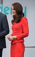 HAYES, UNITED KINGDOM - APRIL 20: Catherine, Duchess of Cambridge attends the official opening of The Global Academy in support of Heads Together on April 20, 2017 in Hayes, England. <br /> CAP/JOR<br /> &copy;JOR/Capital Pictures /MediaPunch ***NORTH AND SOUTH AMERICAS ONLY***