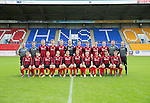 St Johnstone FC 2014-2015 Development Squad Season Photocall..15.08.14<br /> Back from left, Alistair Stevenson (Head of Youth Development), Alan Lochtie (physio), Jason Kerr, Matthew Aitken, Greg Kerr, Mark Hurst, Scott Wilson, Kyle Lander, Scotte Stevenson, Matthew Buchanan, George Browning (Youth GK coach) and Alec Cleland (coach)<br /> Front from left, Brodie Gray, Paul Simpson, Connor McLaren, Rhys Evans, Alex Kitchen, Ally Gilchrist, Craig Thomson, Paul Esslemont, Morgan Reid and Bradley Sinclair.<br /> Picture by Graeme Hart.<br /> Copyright Perthshire Picture Agency<br /> Tel: 01738 623350  Mobile: 07990 594431