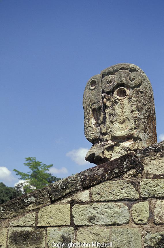 Macaw head Ball Court marker, Copan, Honduras