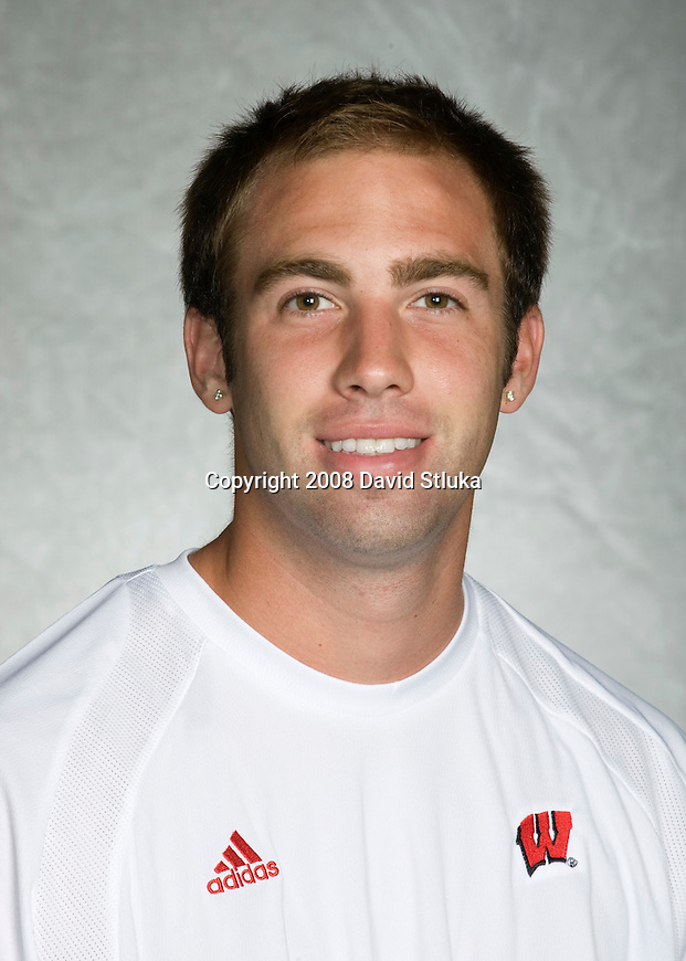 MADISON, WI - SEPT 16: Michael Dierberger of the 2008-09 Wisconsin Badgers men's tennis team on September 16, 2008. (Photo by David Stluka)
