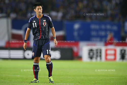 Yohei Toyoda (JPN), AUGUST 14, 2013 - Football / Soccer : <br /> KIRIN Challenge Cup 2013 match <br /> between Japan 2-4 Uruguay <br /> at Miyagi Stadium, Miyagi, Japan.<br />  (Photo by AFLO SPORT)