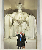 "President-elect of The United States Donald J. Trump and FIRST LADY-elect of The United States arrive at the ""Make America Great Again Welcome Celebration concert at the Lincoln Memorial in Washington, DC, January 19, 2017. <br /> Credit: Chris Kleponis / Pool via CNP"