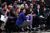 WINSTON-SALEM, NC - FEBRUARY 06: Head coach Muffet McGraw of the University of Notre Dame during a game between Notre Dame and Wake Forest at Lawrence Joel Veterans Memorial Coliseum on February 06, 2020 in Winston-Salem, North Carolina.