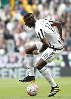 Calcio, Serie A: Juventus vs Palermo. Torino, Juventus Stadium, 17 aprile 2016.<br /> Juventus&rsquo; Paul Pogba in action during the Italian Serie A football match between Juventus and Palermo at Turin's Juventus Stadium, 17 April 2016.<br /> UPDATE IMAGES PRESS/Isabella Bonotto