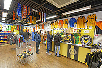 Pictured: Shoppers in the club shop in Newport, Wales, UK. Thursday 14 February 209<br /> Re: The city of Newport is preparing to host the FA Cup match between Newport County and Manchester City at Rodney Parade, Newport, Wales, UK.