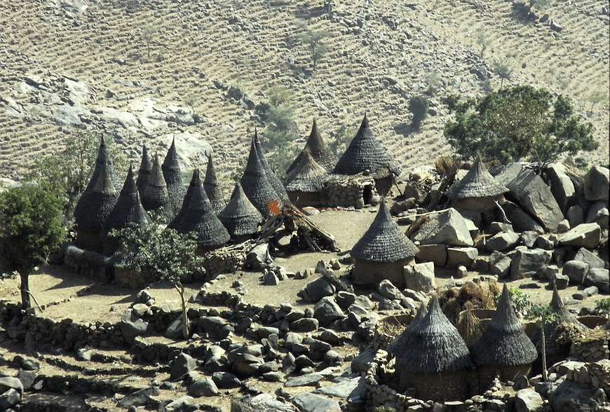Typical Mafa village located near Ziver mountain