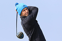 Darragh Flynn (Carton House) on the 1st tee during Round 3 of The West of Ireland Open Championship in Co. Sligo Golf Club, Rosses Point, Sligo on Saturday 6th April 2019.<br /> Picture:  Thos Caffrey / www.golffile.ie