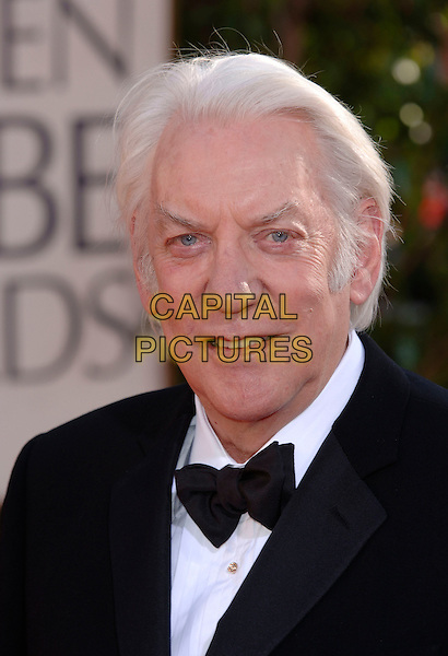 DONALD SUTHERLAND.HFPA 63rd Golden Globe Awards at The Beverly Hills Hilton, Beverly Hills, California, USA..January 16th, 2006.Ref: PL .globes headshot portrait bow tie.www.capitalpictures.com.sales@capitalpictures.com.©Phil Loftus/Capital Pictures